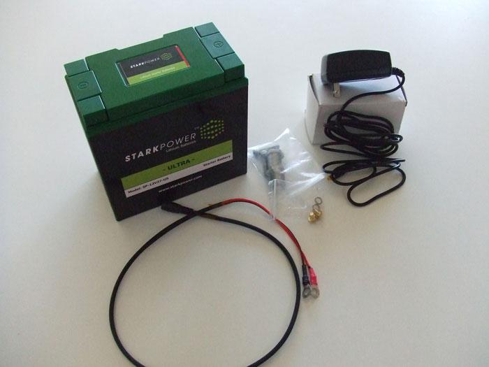 スタークパワー製リチウムイオンバッテリー